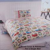 VW Camper Van & Scooter Single Duvet Set