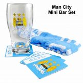 Manchester City Pint Glass Mini Bar Set