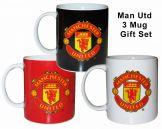 Man Utd 3 Mug Gift Set Manchester United