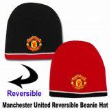 Man Utd Reversible Beanie Hat Manchester United