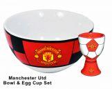 Man Utd Bowl & Egg Cup Set Manchester United