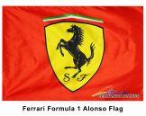 Fernando Alonso & Scuderia Ferrari Crest Flag