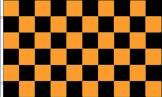 Black & Gold Checkered Flag
