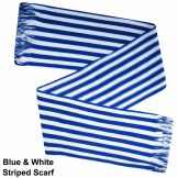 Royal Blue & White Striped Fashion Scarf