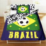 Brazil 2014 World Cup Single Size Duvet Cover & Pillowcase Bed Linen Set