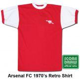 Arsenal FC 1970's Retro Shirt