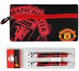 Man Utd Pencil Case & 2 Pen Set Manchester United