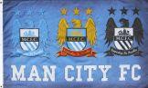 Man City Crest Flag