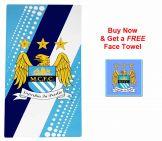 Man City Crest Towel & Free Face Towel
