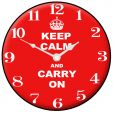 Keep Calm & Carry On Wall Clock