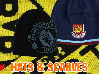 2016 Football Hats and Scarves collage image