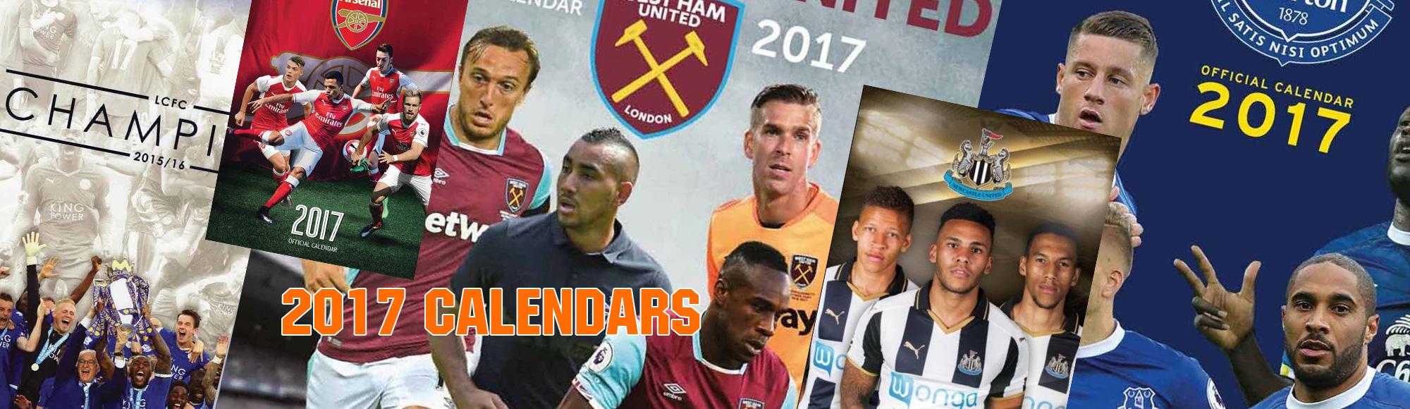 2017 football calendars